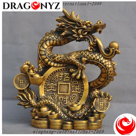 DRAGON STATUE IN FETAL POSITION