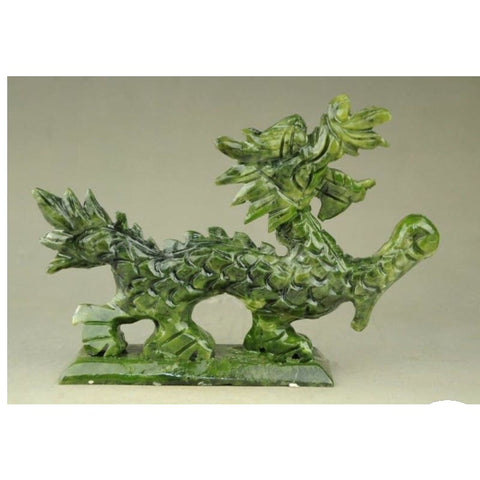 DRAGON STATUE - NATURAL JADE BEST QUALITY