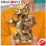 DRAGON STATUE WITH CHINESE CHARACTER