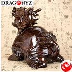 DRAGON STATUE WOODEN OF LIGNUMVITAE