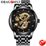 DRAGON WATCH - BLACK AND SILVERY