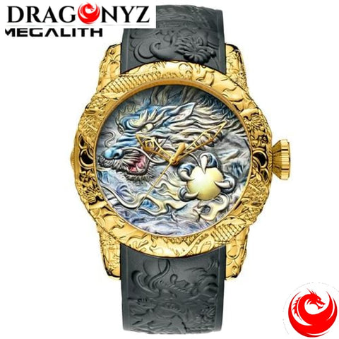 DRAGON WATCH - RUBBER STRAP HIGH QUALITY