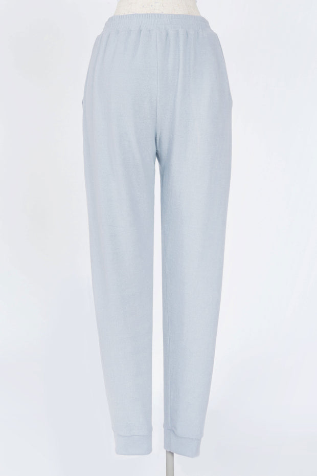 EARLY MORNINGS CHAMBRAY BRUSHED KNIT JOGGERS