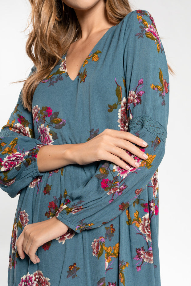 TAKE ME AWAY FLORAL BABYDOLL DRESS