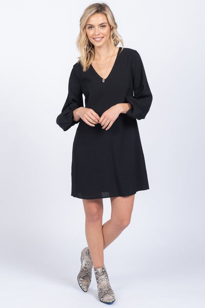 AS ALWAYS BLACK SHIFT DRESS