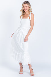 ALL YOU NEED IS LOVE WHITE EYELET MAXI DRESS