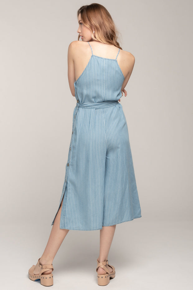 NATURAL BEAUTY CHAMBRAY JUMPSUIT