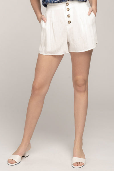 WARMER DAYS WHITE HIGH-WAIST SHORTS