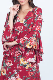 LOVE POEM BELL SLEEVE SHIFT DRESS