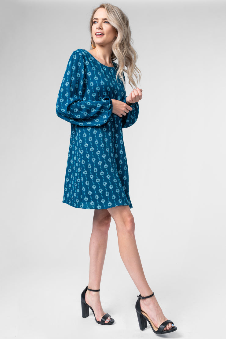START OVER TEAL SHIFT DRESS