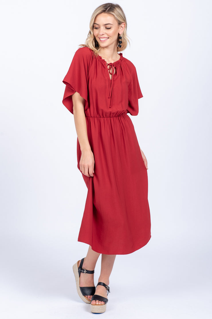 COFFEE DATE MAUVE MIDI DRESS