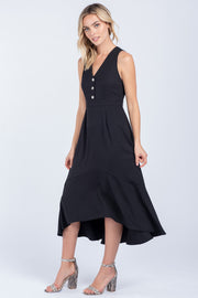 UNSTOPPABLE BUTTON DOWN MIDI DRESS
