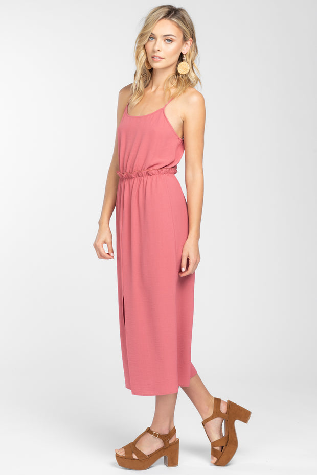SUN SOAKED MAUVE MIDI DRESS