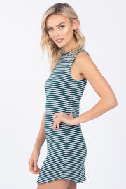 OUT AND ABOUT GREEN STRIPED DRESS