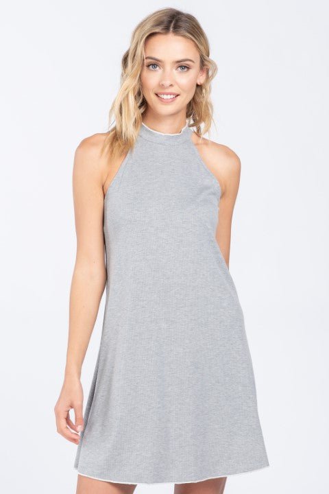KEEP IT SIMPLE MOCK NECK MINI DRESS