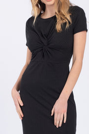 CLASSY BUT SASSY RIBBED KNIT DRESS