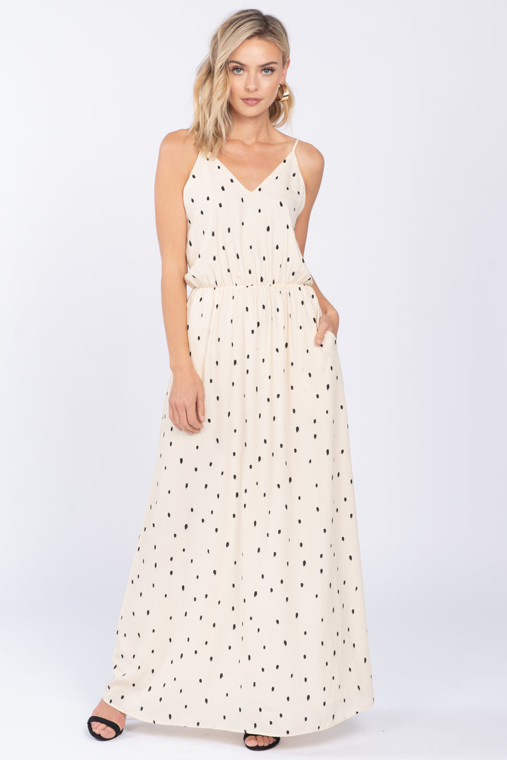YOU'RE MY SWEETHEART IVORY MAXI DRESS
