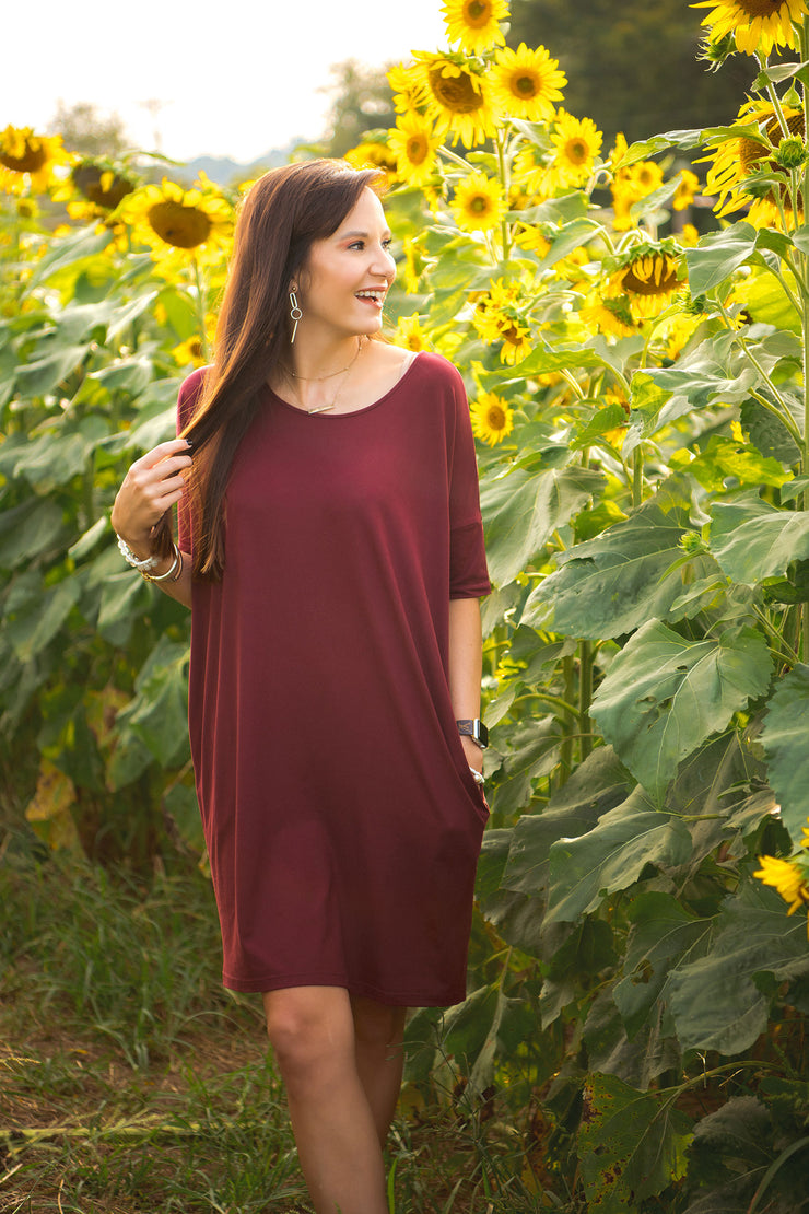 DRESSED TO CHILL WINE KNIT DRESS