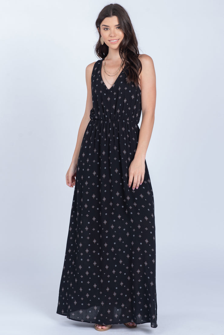 TRUE REFLECTION STARLIGHT SLEEVELESS MAXI DRESS