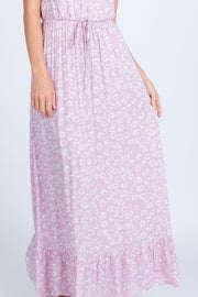 TAKE A CHANCE MAUVE FLORAL PRINT MAXI DRESS