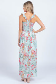 ENDLESS SUMMER ORANGE-PINK MAXI DRESS