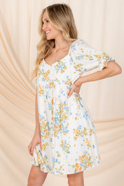 BE MY FOREVER BLUE FLORAL DRESS