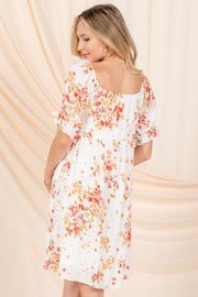 BE MY FOREVER CORAL FLORAL DRESS
