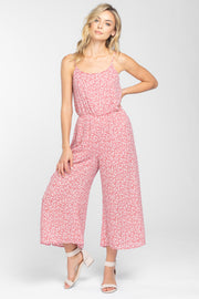 NEVER GIVE UP BLUSH FLORAL CULOTTE JUMPSUIT