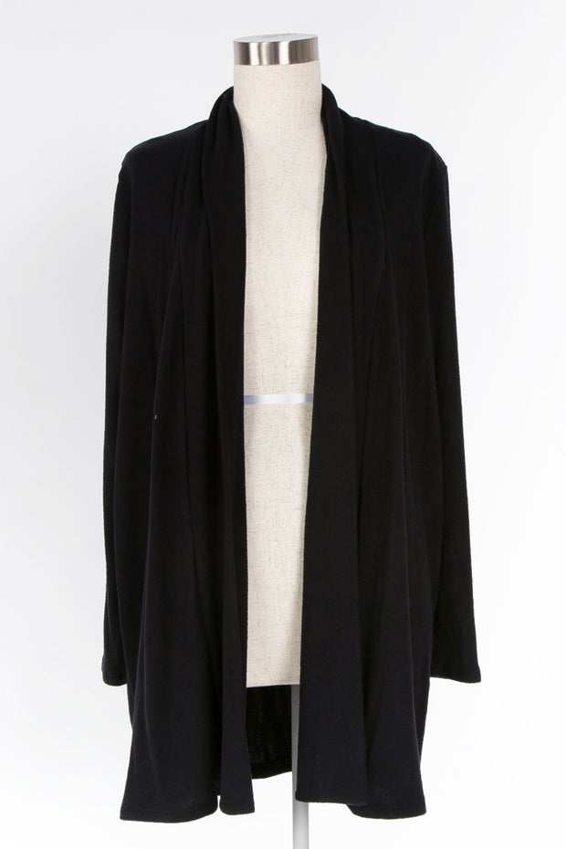 WARM WISHES BLACK SWEATER KNIT CARDIGAN
