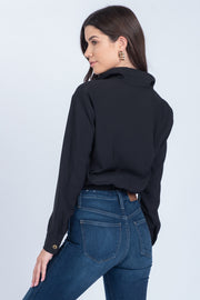ALL OF OUR HEROES BLACK CROPPED UTILITY JACKET