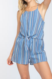 IN THE TROPICS TIE FRONT ROMPER