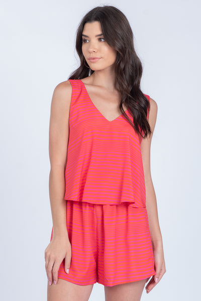 RESORT LIVING STRIPED ROMPER