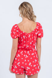 Blossom On Over Red Romper