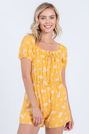 Blossom On Over Yellow Romper