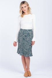 MAKING MOVES LEOPARD PRINT SKIRT