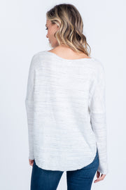 STAY IN TOUCH WAFFLE KNIT TOP
