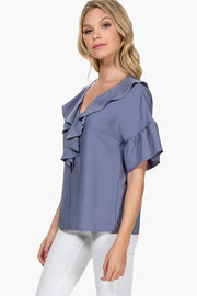 RUFFLE AND FLOW RUFFLE TOP