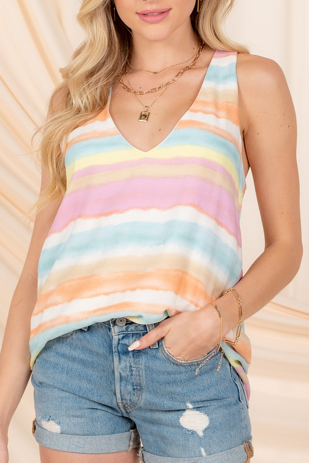 SUNSHINE LOVER PLEATED TANK TOP