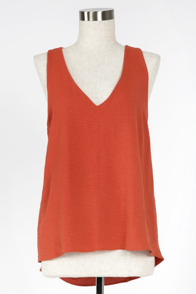 SIMPLE THINGS V NECK TANK TOP