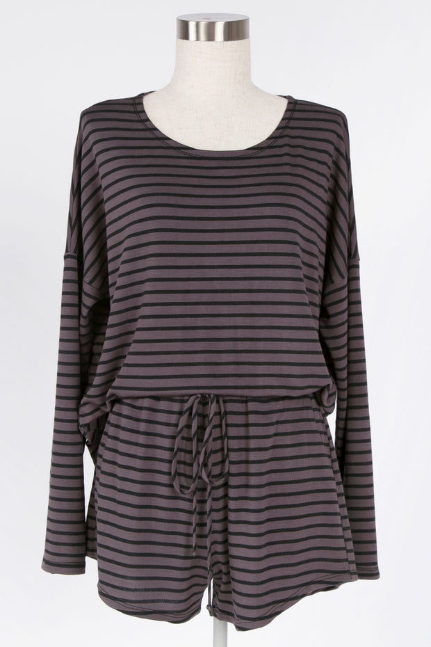 BE CASUAL IVORY STRIPED TOP