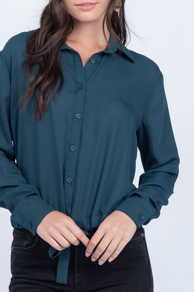FIND YOUR WAY PINE TIE FRONT TOP