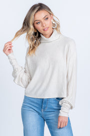 LOVE LIKE THIS OATMEAL KNIT TOP