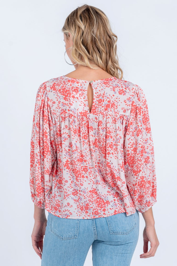 HAPPINESS BLOOMS FLORAL TOP