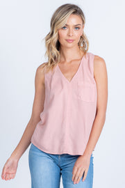 TANK ME LATER SLEEVELESS BLUSH TANK TOP