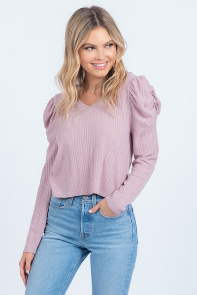 LOOK THIS WAY BLUSH LONG SLEEVE TOP