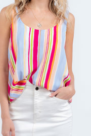 WEEKEND CHILL STRIPED TANK