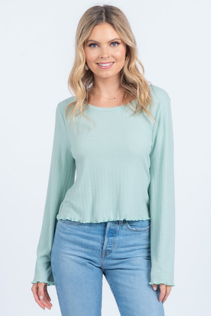 MINT TO BE MINT BASIC LONG SLEEVE TOP