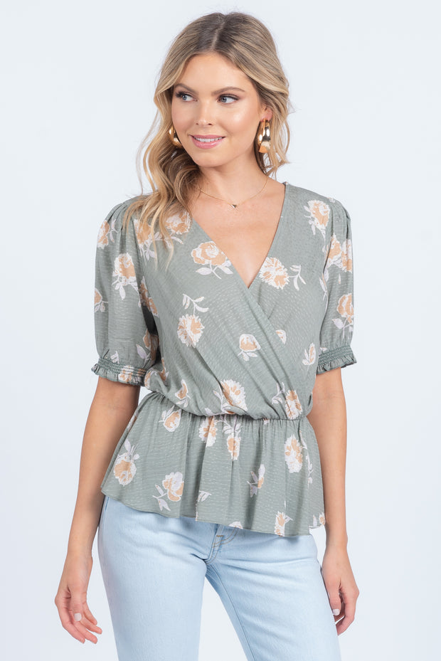 SWEET MEMORIES BLACK FLORAL TOP