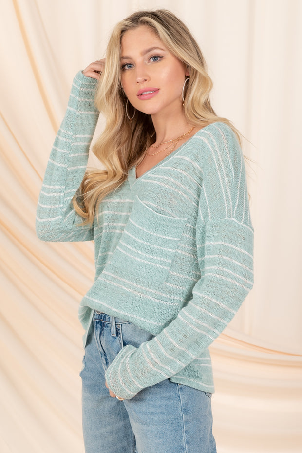 ACT CASUAL IVORY LONG SLEEVE TOP