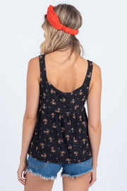 SWEETEST DAYS BLACK EYELET BABYDOLL TANK